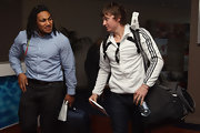 Ma'a Nonu's pastel blue button-down and gray slacks were a welcome change from his rugby uniform.