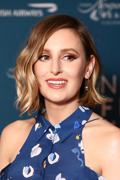 Laura Carmichael looked sweet with her short waves at the Newport Beach Film Festival UK honours event.