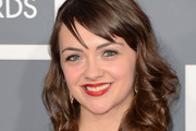 Neyla Pekarek Medium Wavy Cut with Bangs