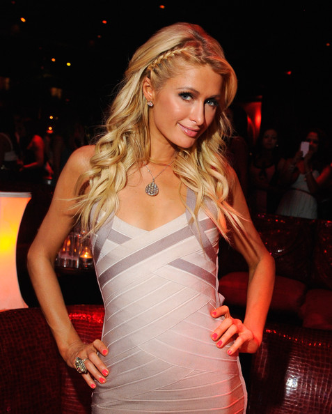 More Pics of Paris Hilton Long Braided Hairstyle (1 of 25) - Long Hairstyles Lookbook - StyleBistro