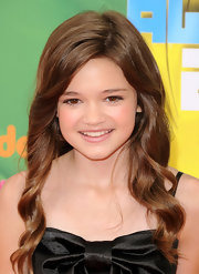 Ciara Bravo styled her hair in corkscrew curls for an ultra-sweet finish to her Kids' Choice Awards look.