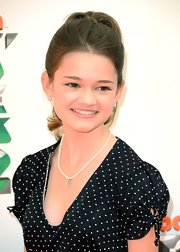 Ciara Bravo accentuated her youthful good looks with a high ponytail at the Kids' Choice Awards.