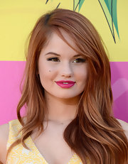 Debby Ryan's fiery locks had a touch of retro-glam style with this wavy 'do.