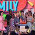 (L-R) Actress Kathrine Herzer, actor Chris Rock, Lola Simone Rock, actor Jesse Tyler Ferguson, actor Nolan Gould, actor Rico Rodriguez, actress Sarah Hyland and actress Ariel Winter speak onstage during Nickelodeon's 28th Annual Kids' Choice Awards held at The Forum on March 28, 2015 in Inglewood, California.