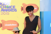 Actress/singer Jennifer Hudson (R) and David Daniel Otunga Jr. attend Nickelodeon's 28th Annual Kids' Choice Awards held at The Forum on March 28, 2015 in Inglewood, California.