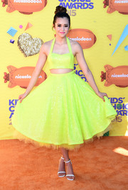 Megan Nicole's Julie Mollo skirt and crop-top ensemble had a fun '50s feel.
