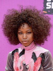 Riele Downs rocked a messy afro at the 2017 Nickelodeon Kids' Choice Sports Awards.