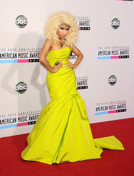 Nicki Minaj Strapless Dress