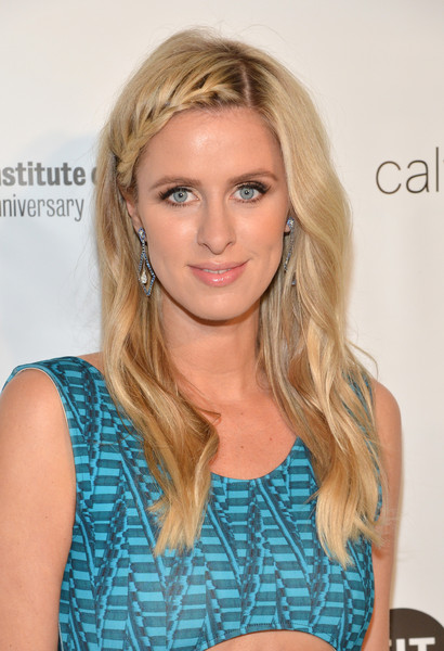 Nicky Hilton Long Partially Braided
