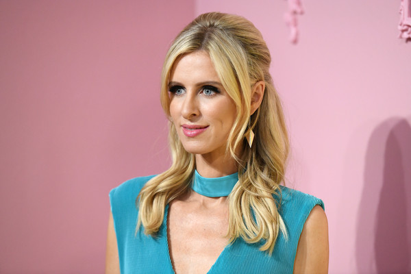 Nicky Hilton Half Up Half Down [shows,the shows,hair,blond,face,hairstyle,lip,beauty,skin,eyebrow,chin,pink,nicky hilton,stacey bendet - presentation,stacey bendet presentation,new york city,alice olivia,new york fashion week]