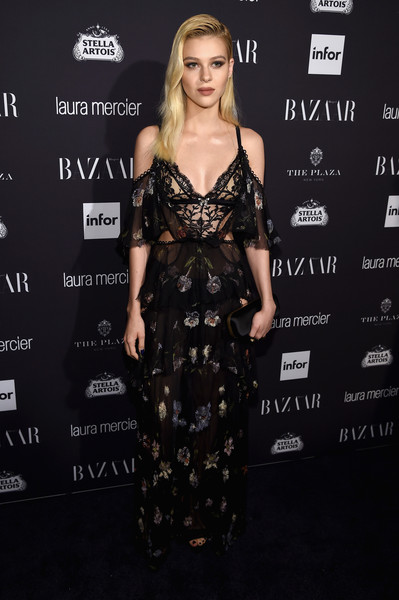 Nicola Peltz Print Dress