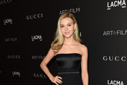 Nicola Peltz Strapless Dress