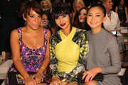 (L-R) Actresses Selenis Leyva, Jackie Cruz, and Kimiko Glenn   attend the Nicole Miller fashion show during Mercedes-Benz Fashion Week Spring 2015 at The Salon at Lincoln Center on September 5, 2014 in New York City.