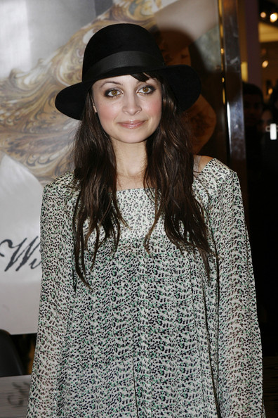 Nicole Richie Suede Dress Hat