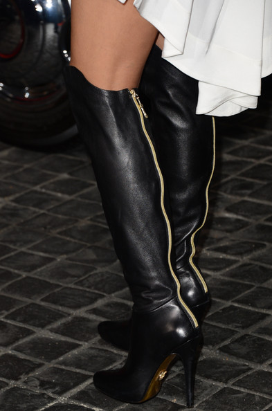 Nicole Scherzinger Knee High Boots