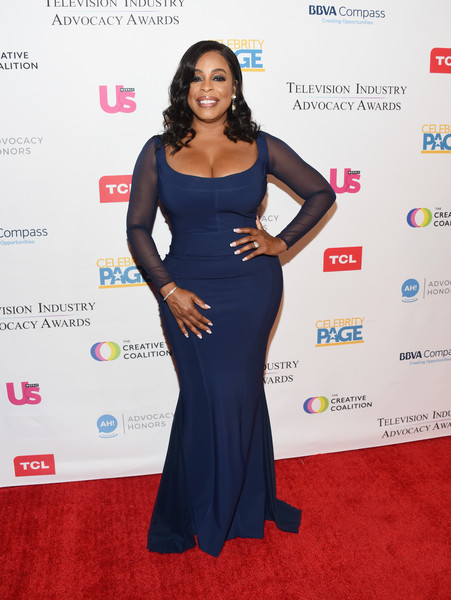 Niecy Nash Form-Fitting Dress [clothing,dress,red carpet,shoulder,carpet,hairstyle,fashion,long hair,flooring,gown,arrivals,niecy nash,sofitel los angeles,california,beverly hills,creative coalition,television industry advocacy awards]