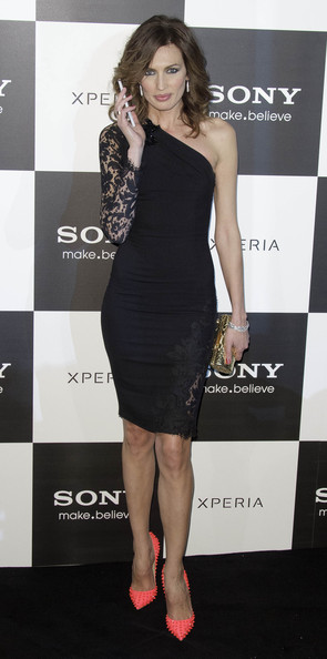Nieves Alvarez One Shoulder Dress