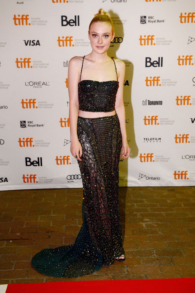 "Actress Dakota Fanning arrives at the ""Night Moves"" Premiere during the 2013 Toronto International Film Festival at the Ryerson Theatre on September 8, 2013 in Toronto, Canada."