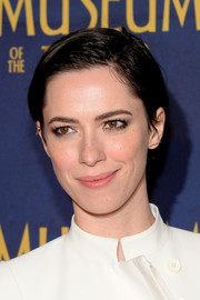 Rebecca Hall sported a short, wet-look 'do at the premiere of 'Night at the Museum: Secret of the Tomb.'