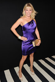 Ramona Singer wowed the crowd in a purple one-shoulder dress at A Night of Style & Glamour.