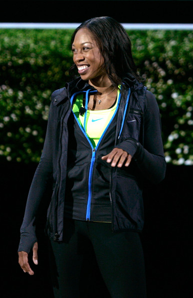 More Pics of Allyson Felix Long Curls (1 of 6) - Allyson Felix Lookbook - StyleBistro