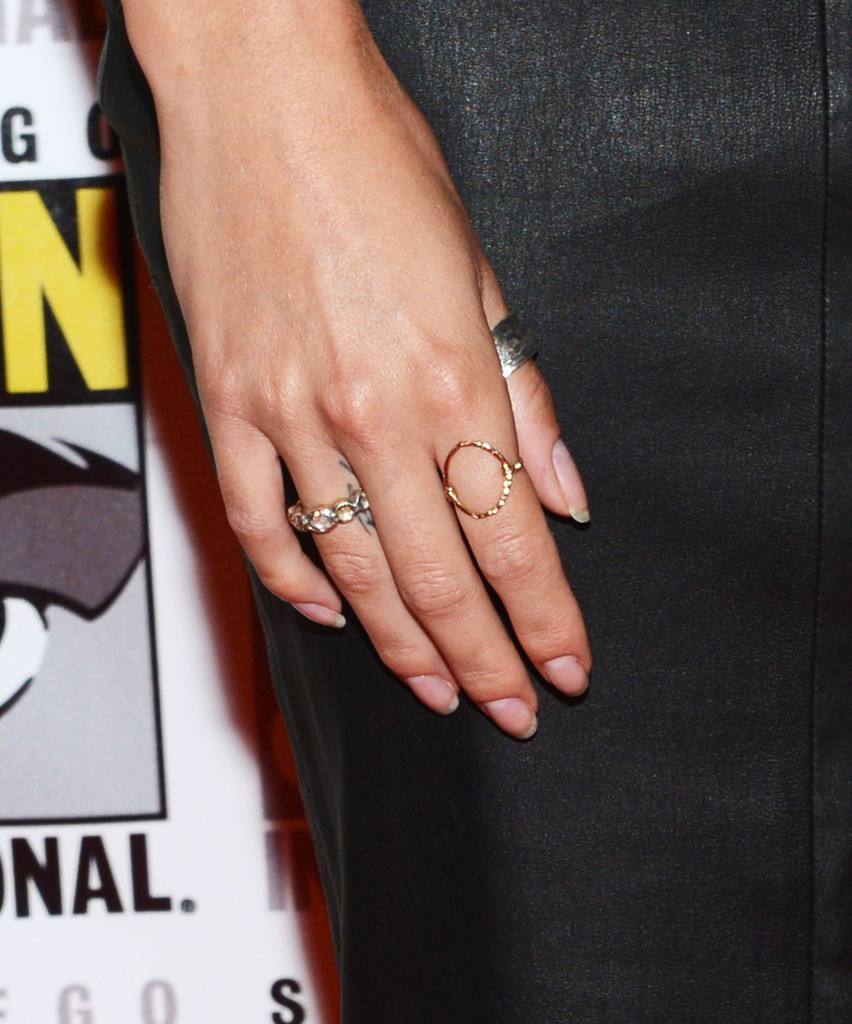 Nikki Reed Gold Ring - Newest Looks - StyleBistro