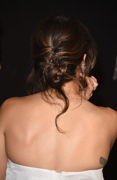 Nikki Reed Twisted Bun