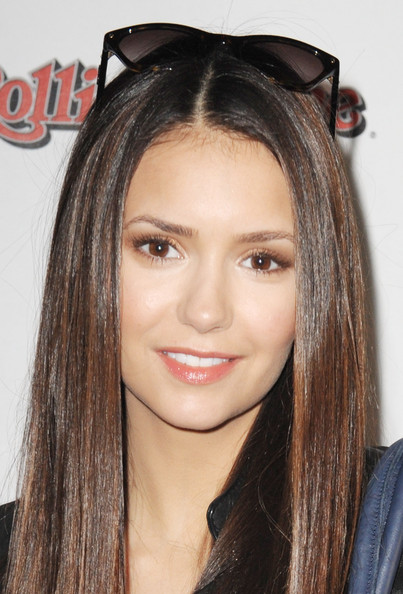 Nina Dobrev Neutral Eyeshadow [hair,face,eyebrow,hairstyle,forehead,chin,beauty,lip,long hair,hair coloring,nina dobrev,indianapolis,indiana,the crane bay,fan tailgate party,rolling stone hosts volkswagen rock roll super bowl,the rolling stone volkswagen rock roll fan tailgate party]