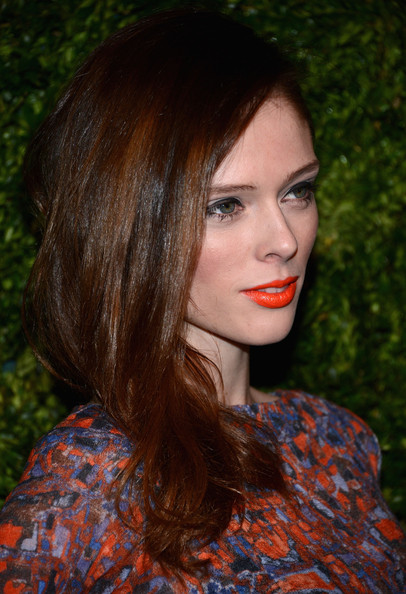 More Pics of Coco Rocha Bright Lipstick (1 of 9) - Bright Lipstick Lookbook - StyleBistro