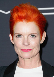 Sandy Powell went super edgy with this towering fauxhawk at the 2016 Women in Film pre-Oscar cocktail party.