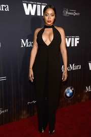 La La Anthony put on a bold display in this black cutout jumpsuit during the Women in Film pre-Oscar party.