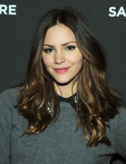 Katharine McPhee finished off her look with a swipe of pearly pink gloss.