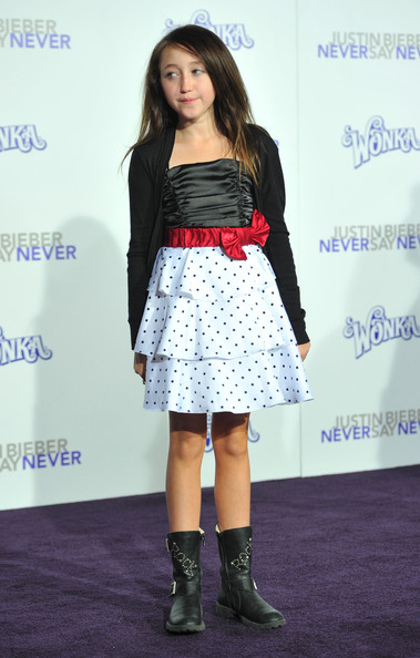 Noah Cyrus Print Dress [justin bieber: never say never,red carpet,clothing,fashion,footwear,hairstyle,dress,shoulder,joint,fashion model,long hair,premiere,noah cyrus,red carpet,fashion,celebrity,clothing,paramount pictures,premiere,premiere,miley cyrus,justin bieber: never say never,paramount pictures,red carpet,premiere,celebrity]