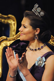 Princess Victoria looked so regal and sophisticated with a chignon.