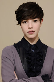 Olivia Thirlby wore a hint of lipbalm while attending the 2012 Sundance Film Festival.