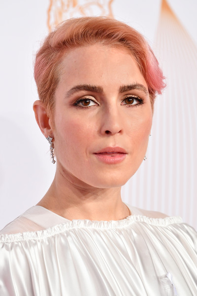 Noomi Rapace Short Side Part [hair,face,eyebrow,white,hairstyle,lip,chin,skin,forehead,beauty,red carpet arrivals - cesar film awards,paris,france,le fouquet,noomi rapace]