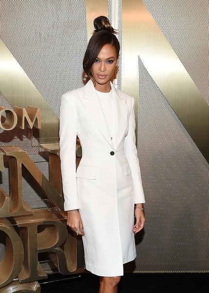 More Pics of Joan Smalls Evening Sandals (1 of 4) - Heels Lookbook - StyleBistro [nordstrom men,jourdan dunn,clothing,white,suit,formal wear,fashion,outerwear,dress,fashion model,blazer,haute couture,nyc store opening,nyc store,new york city]