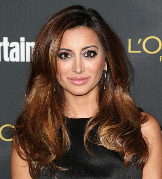 Noureen DeWulf Long Wavy Cut [hair,face,hairstyle,brown hair,eyebrow,hair coloring,long hair,blond,chin,layered hair,party - arrivals,noureen dewulf,west hollywood,california,fig olive melrose place,entertainment weekly,pre emmy party]