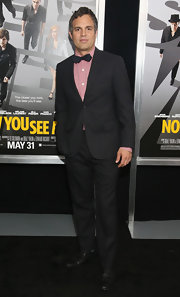 Mark Ruffalo looked classically stylish with a black suit and matching bow tie.