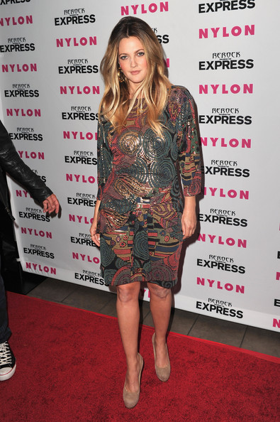 More Pics of Drew Barrymore Long Straight Cut (3 of 26) - Drew Barrymore Lookbook - StyleBistro