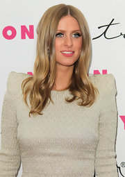 Nicky Hilton styled her locks in a center part straight cut at 'Nylon' Magazine's 12th Anniversary Issue Party.