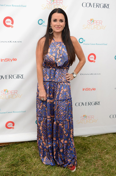 Kyle Richards in a Maxi Dress