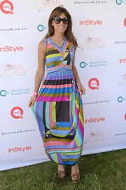 Rachel's geometric abstract maxi had a hint of mod-flare to it!