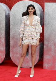 Neelam Gill paired her cute frock with simple white pumps.