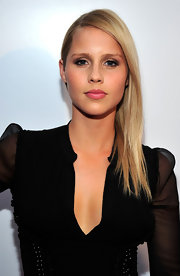 Claire Holt swept on a fresh glossy bubblegum pink lipstick for the launch of BritWeek 2012.