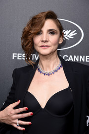 Clotilde Courau opted for a classic red mani when she attended the Trophee Chopard dinner.