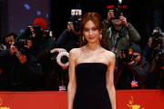 Olga Kurylenko Strapless Dress