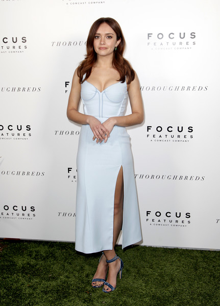 Olivia Cooke Evening Sandals [clothing,dress,fashion,lady,hairstyle,long hair,cocktail dress,fashion model,shoulder,red carpet,red carpet,olivia cooke,thoroughbreds,west hollywood,california,sunset marquis hotel,focus features,premiere,premiere]