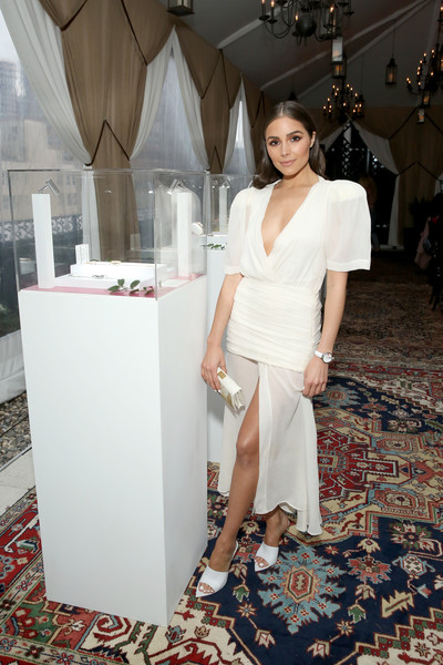 Olivia Culpo Cocktail Dress [timex spring 2018 womens collection launch dinner,white,clothing,fashion,dress,beauty,fashion design,haute couture,leg,formal wear,flooring,olivia culpo,model,new york city,the nomad hotel]