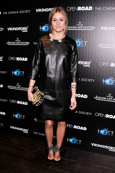 Olivia Palermo Leather Dress